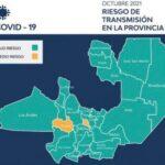 Solo dos departamentos se encuentran en mediano riesgo de contagio de covid-19